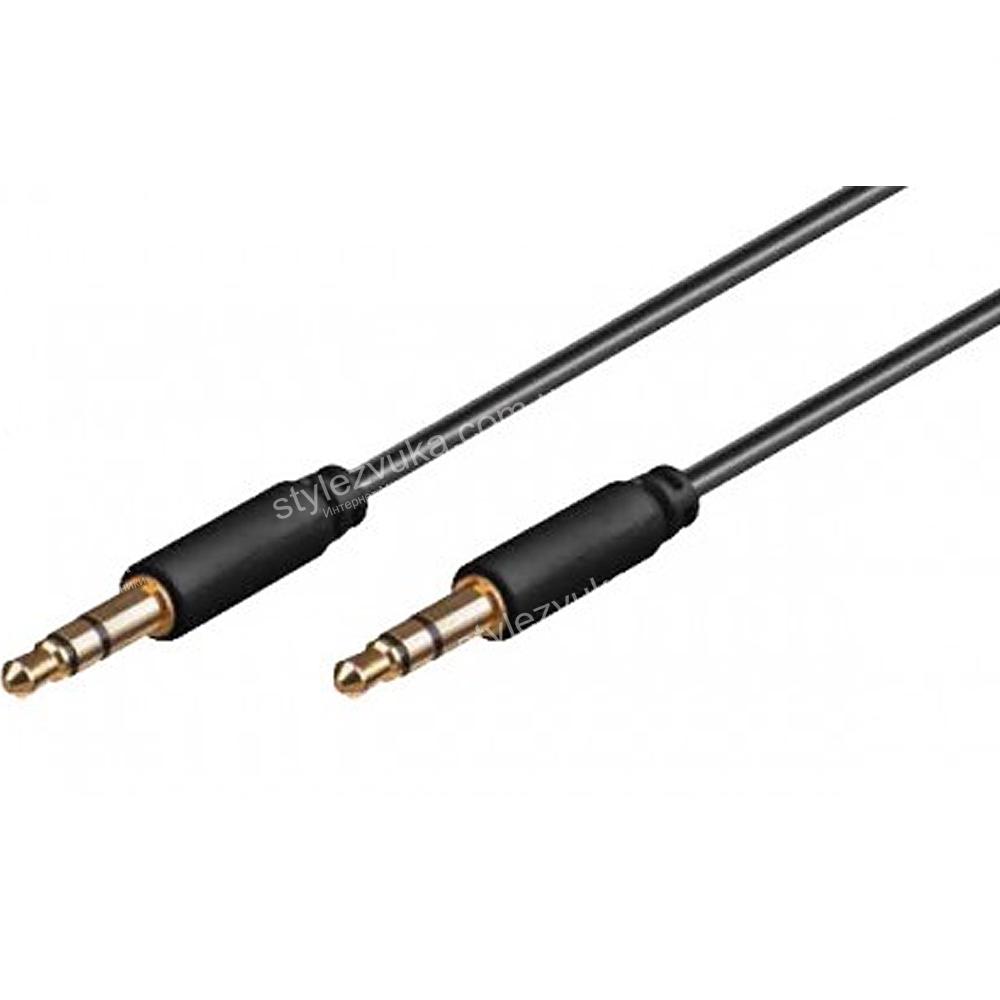 AUX кабель Jack 3.5 мм - 0.5 м чёрный AWM 110-02