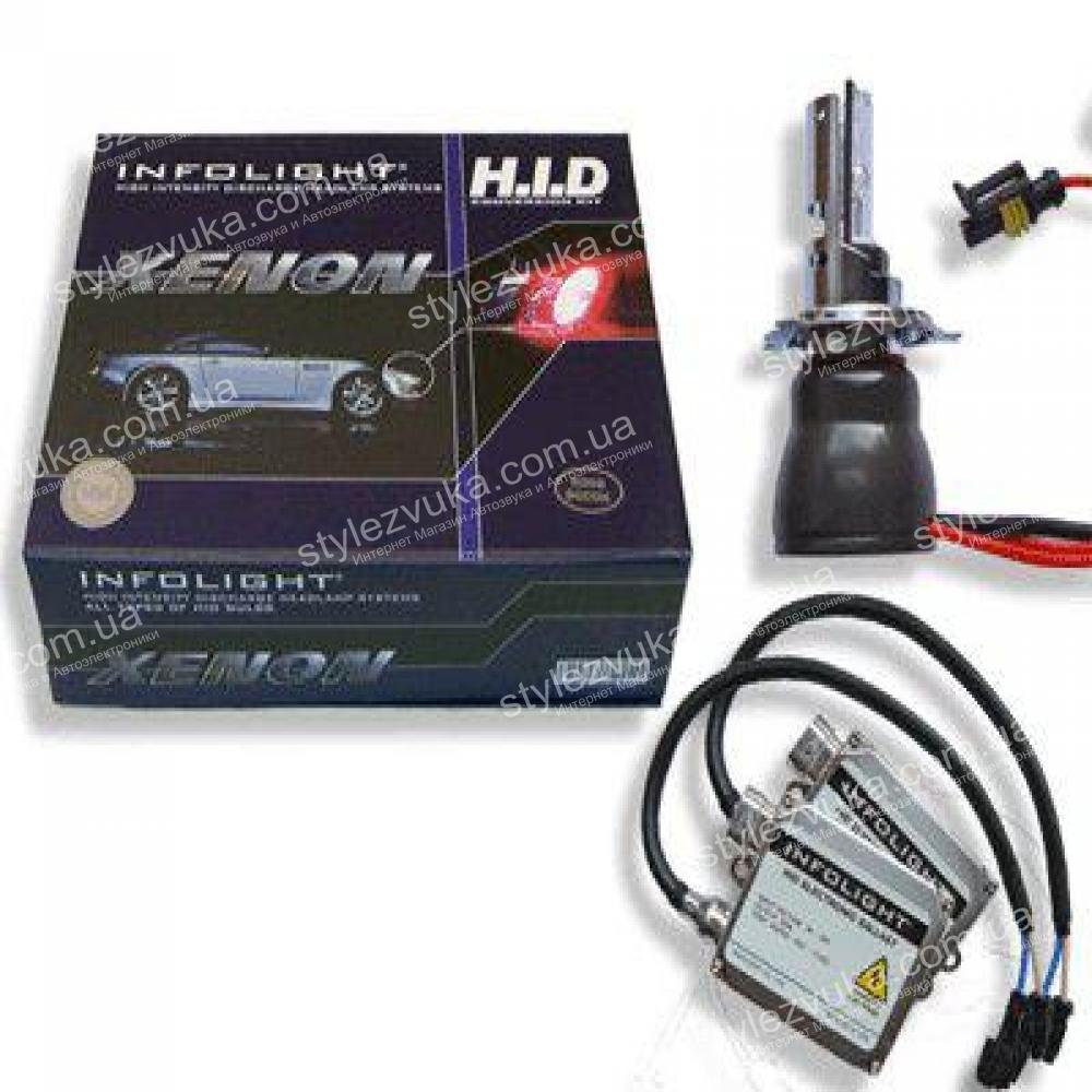 Комплект биксенона Infolight 50W H4 4300K
