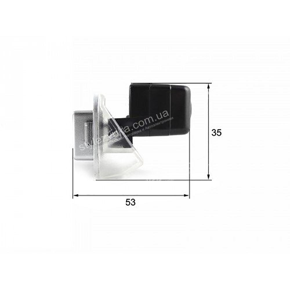 Штатная камера заднего вида в плафон CCD Falcon SC93HCCD-170-R  2