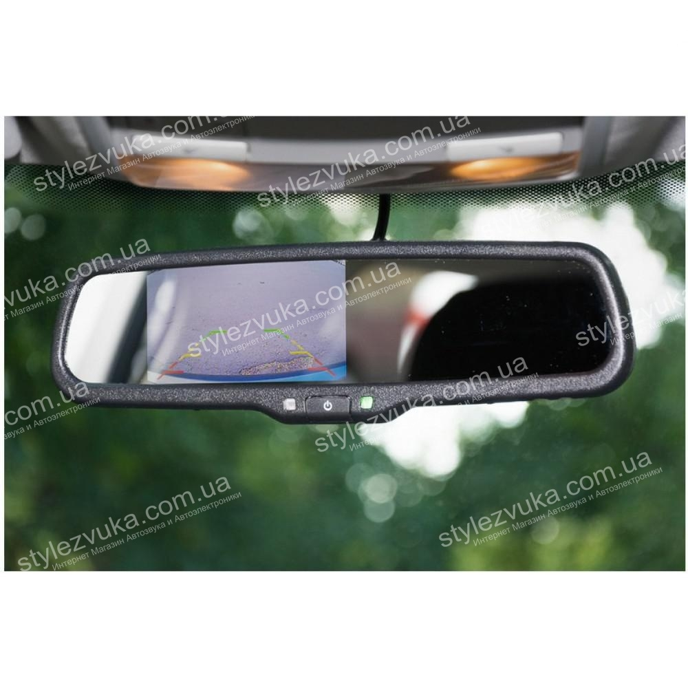Штатное автомобильное салонное зеркало заднего вида с монитором 4,3? Phantom RMS-430-13 NISSAN, RENAULT 2
