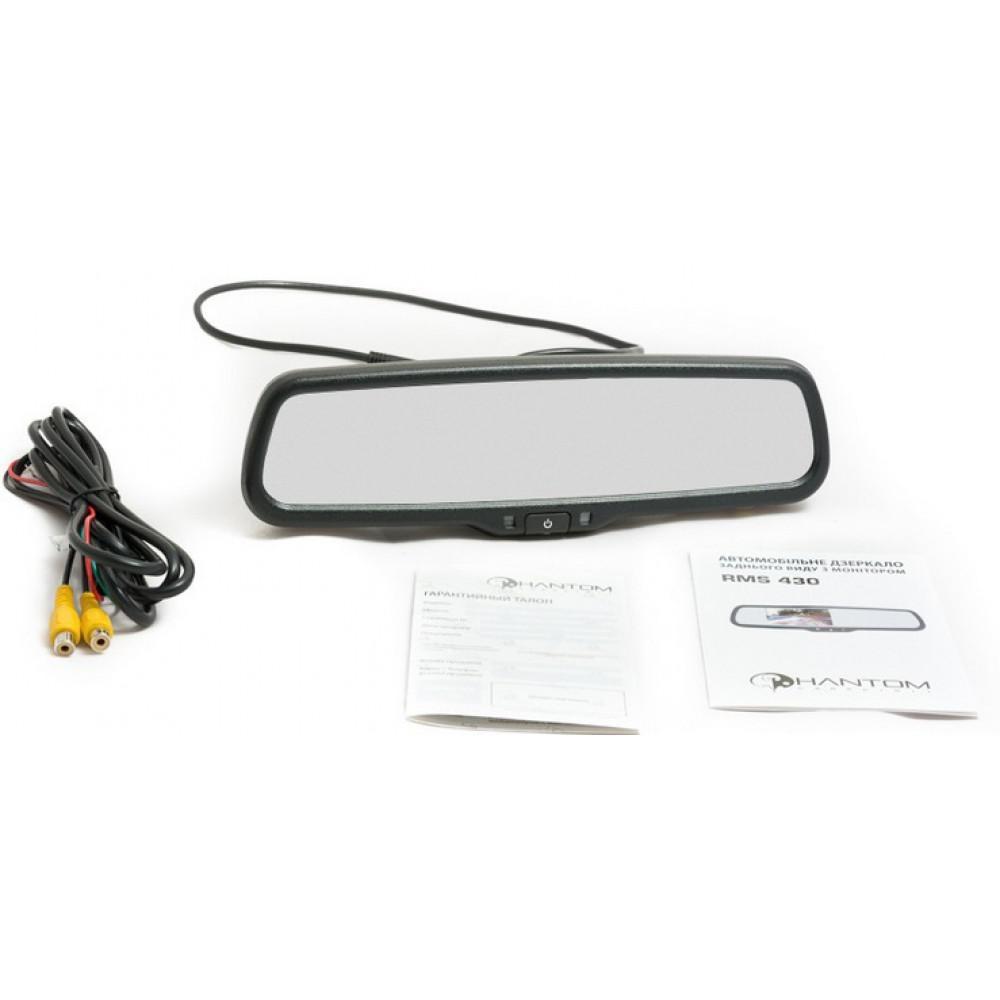 Штатное автомобильное салонное зеркало заднего вида с монитором 4,3? PHANTOM RMS-430-22 AUDI 2
