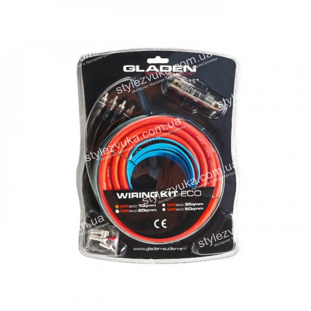 Набор кабелей GLADEN ECO LINE WK 10 (2 канала) 3