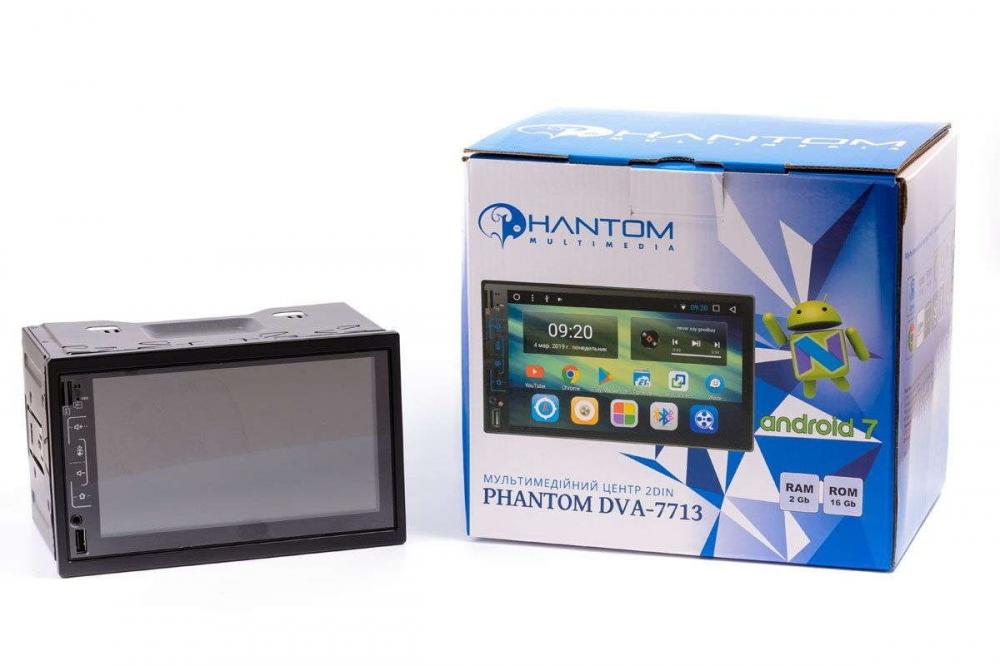 Мультимедийный центр PHANTOM DVA-7713 Navitel 3