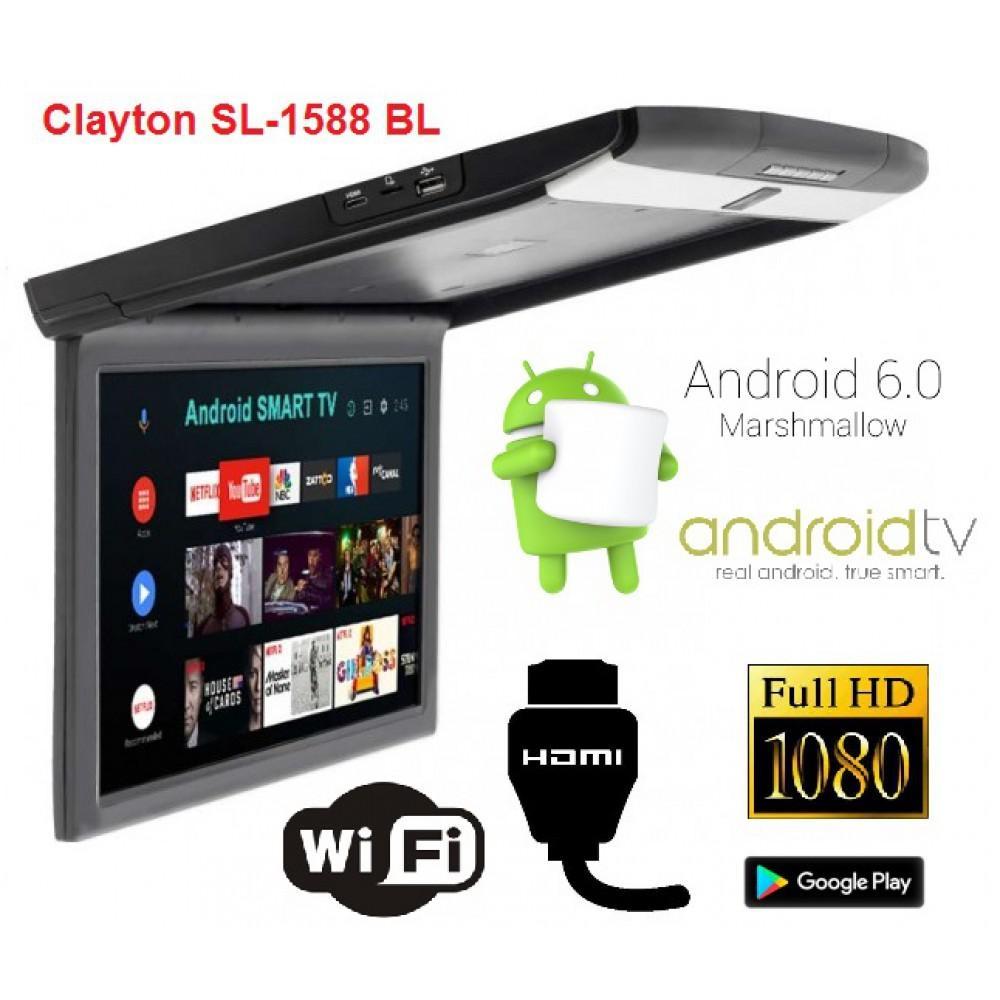 Потолочный монитор Clayton SL-1588 BL Android 2