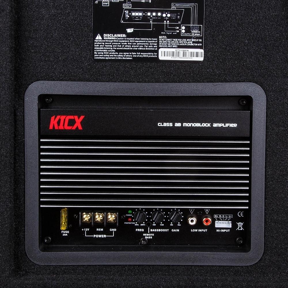 Сабвуфер Kicx GT-310BPA 3