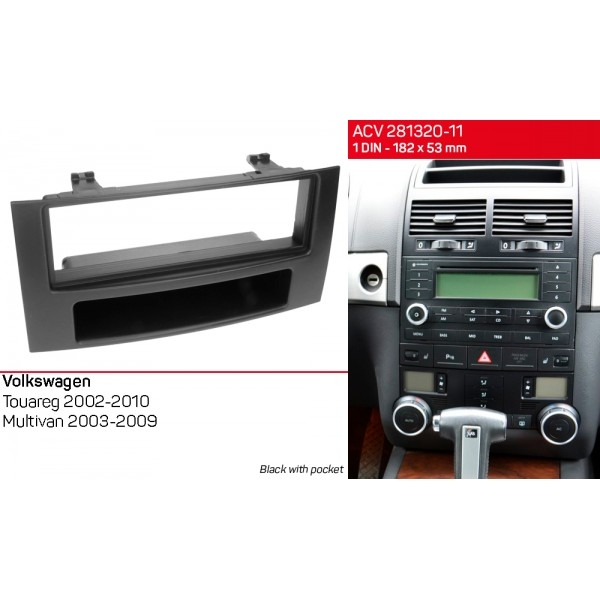 Переходная рамка Volkswagen Touareg, Multivan ACV 281320-11 2